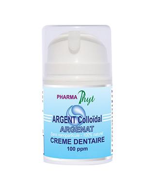 creme dentaire argent colloïdal 50 ml